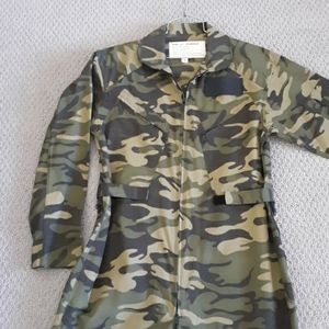 Flight Suit Coveralls Camouflage Size Small